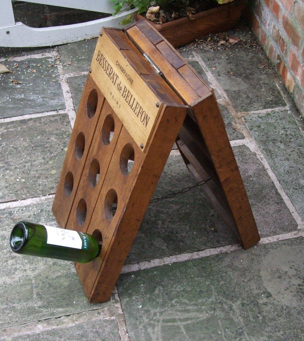 French Champagne Riddling Rack