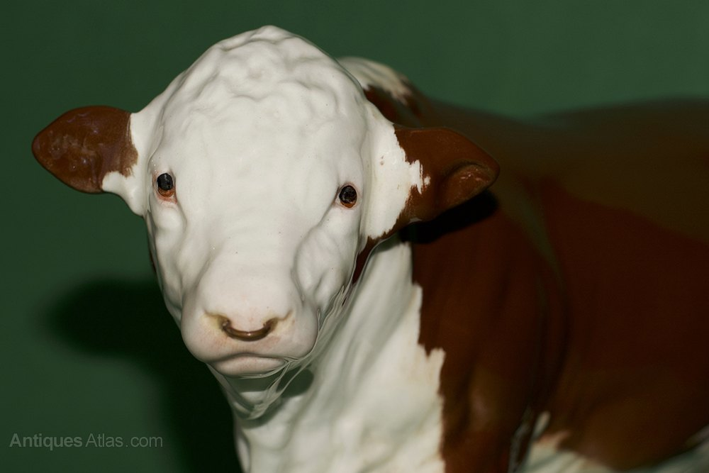 Beswick Polled Hereford Bull Model No  2549A