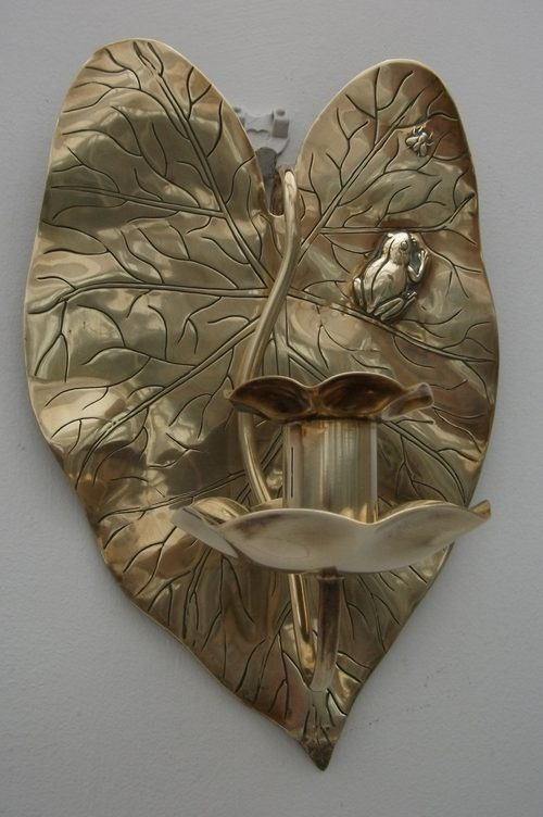 Antiques Atlas - Antique Brass Candle Wall Sconces
