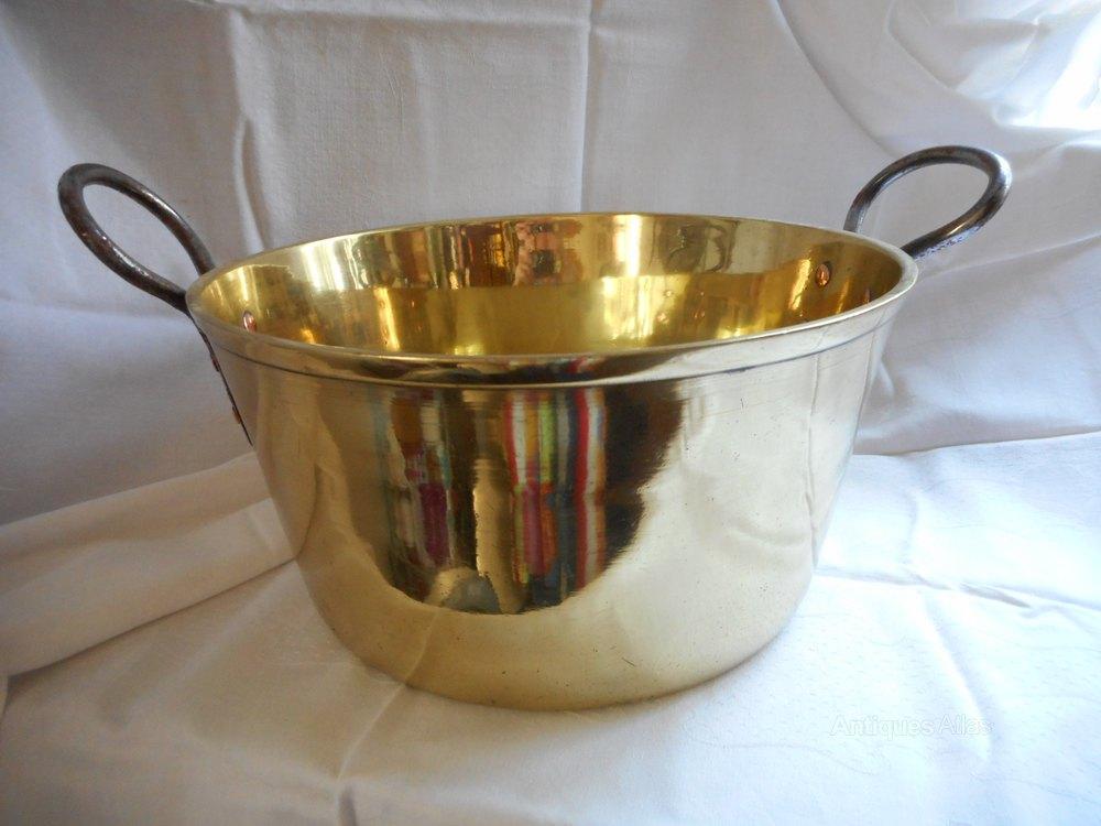 Antiques Atlas Antique Large Brass Cooking Pot