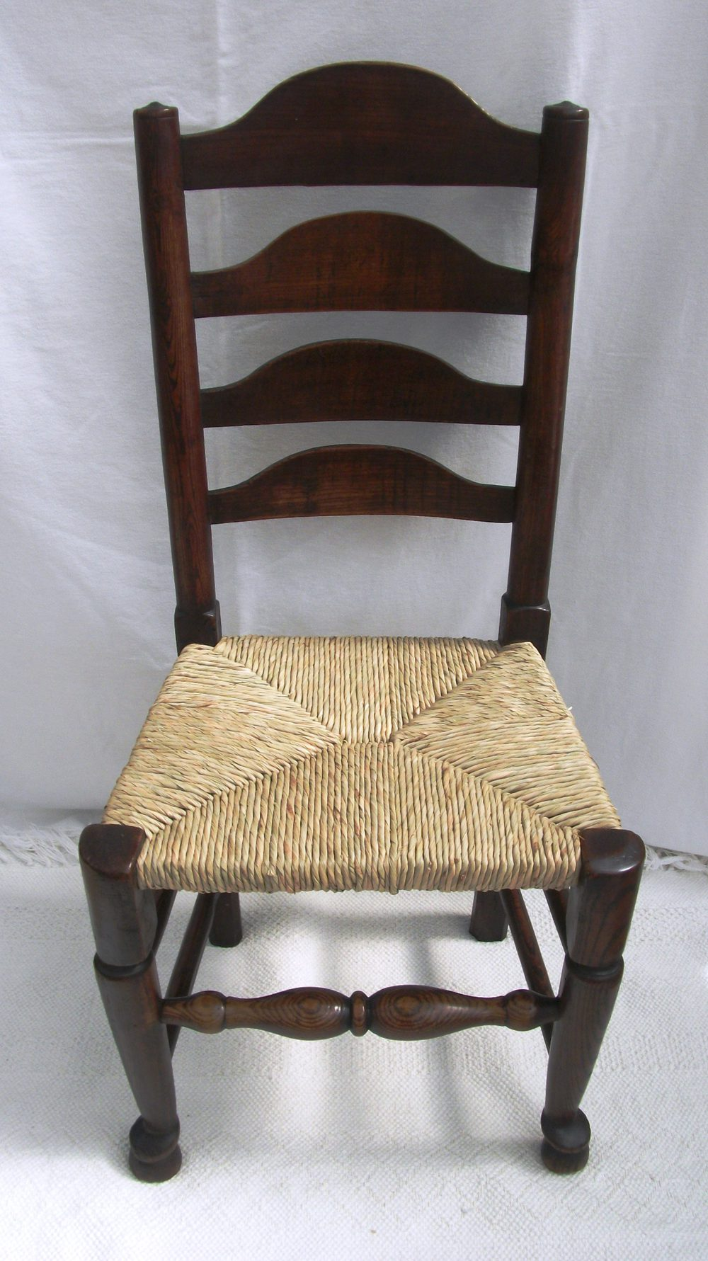 Antique set of 4 lancashire ladder back chairs antiques Ladder back chairs