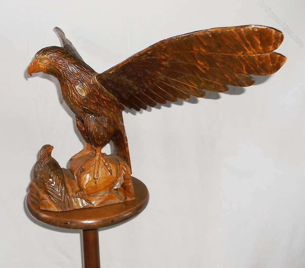 Antiques atlas blackforest carved eagle