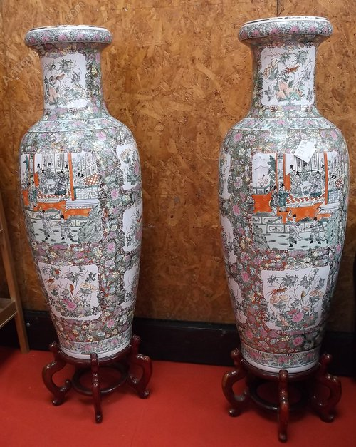 Antiques Atlas Massive Pair Of Floor Standing Oriental Vases