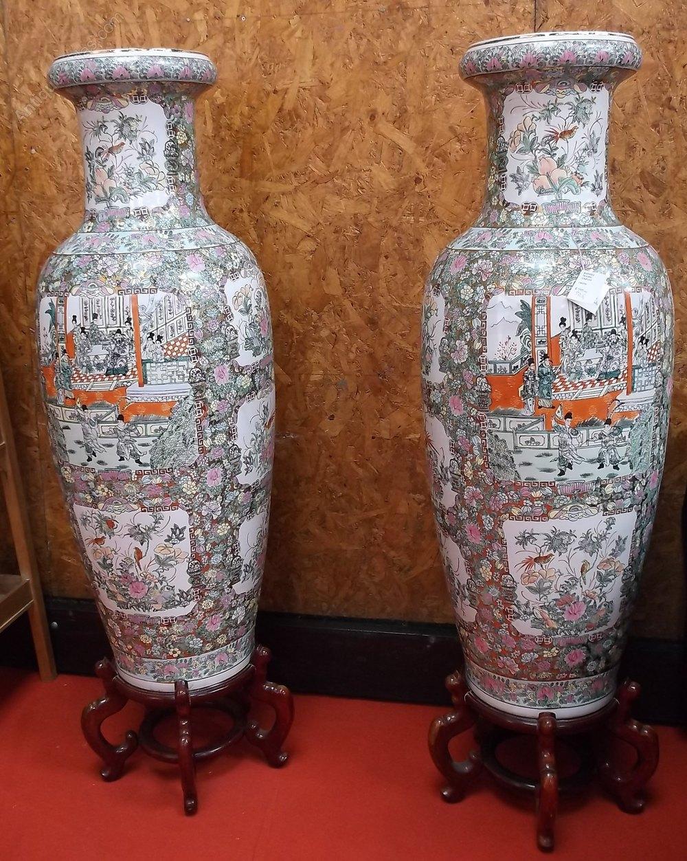 Antiques Atlas Massive Pair Of Floor Standing Oriental Vases