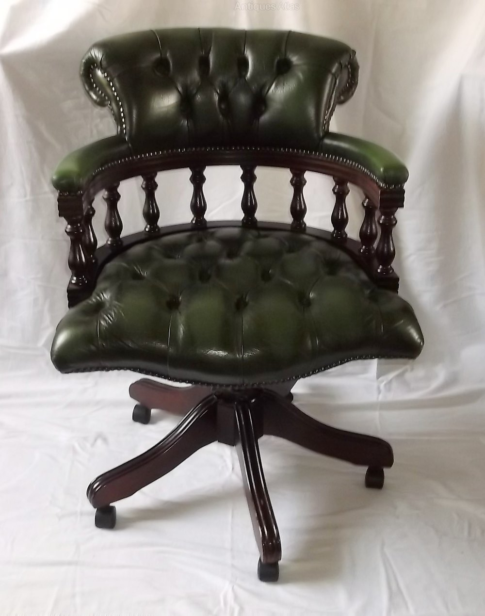 Antiques Atlas Victorian Style Leather Swivel Office Chair