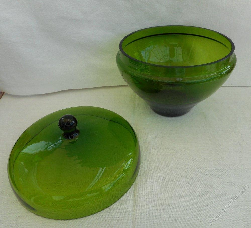 Green Vintage Glass 115