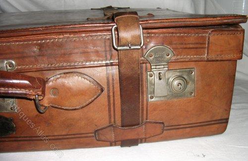 Antiques Atlas - Vintage Leather Suitcase