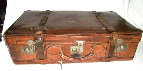 Antiques Atlas - Vintage Leather Suitcase