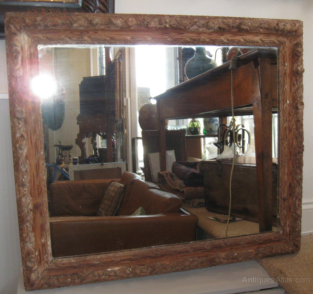 Antiques Atlas - 17thCentury Carved Wood Mirror/picture Frame