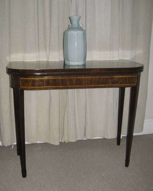afb9d17973eb 18thC Inlaid Mahogany Games side Table - Antiques Atlas