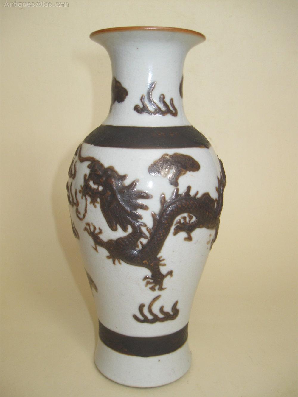 Antiques Atlas Antique Oriental Dragon Vase 19thcentury