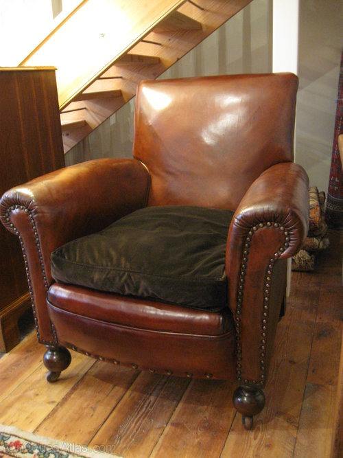 antique leather club chairs antique leather club chair antiques atlas 4106