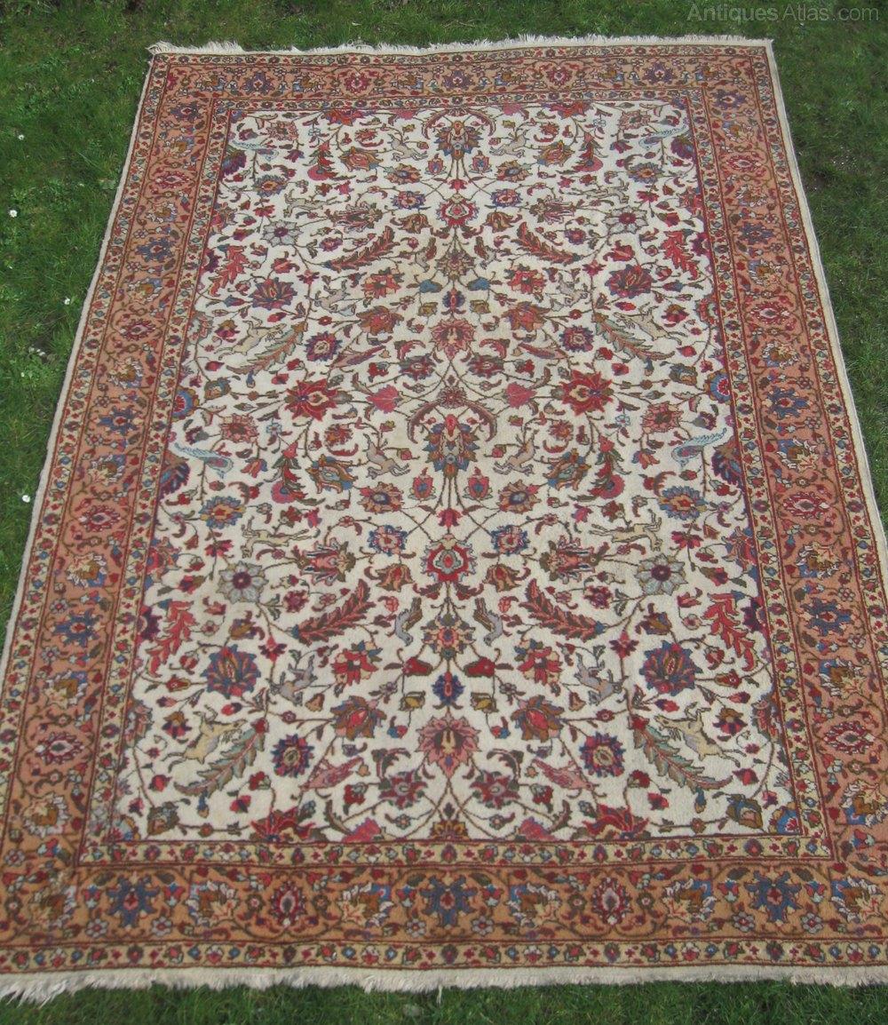 Antiques Atlas Antique Persian Tabriz Carpet Circa 1930 S