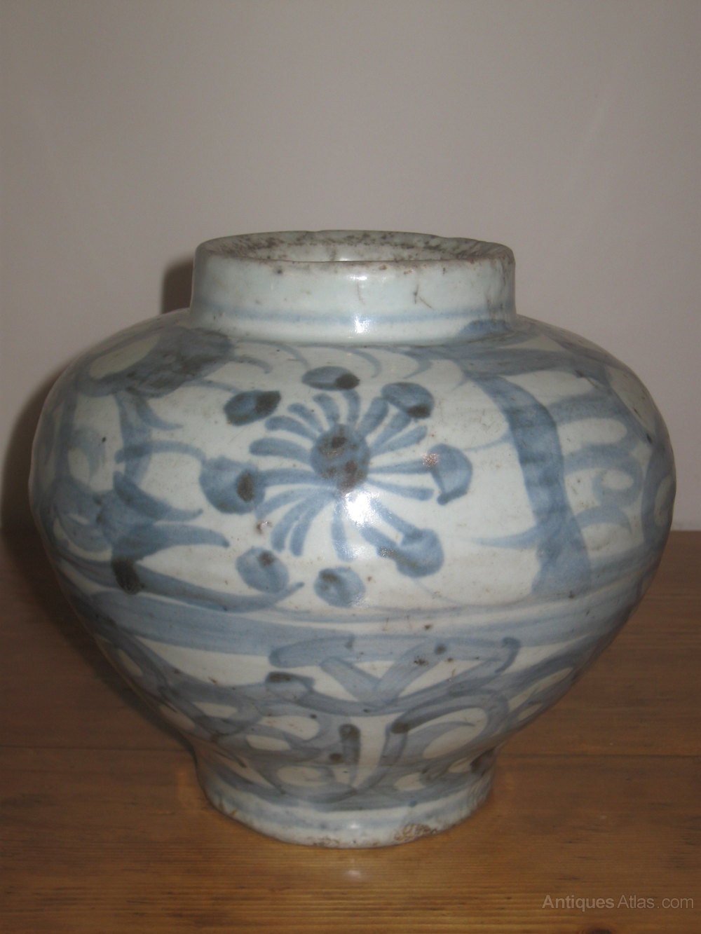 Chinese Large Ming Dynasty Porcelain Vase
