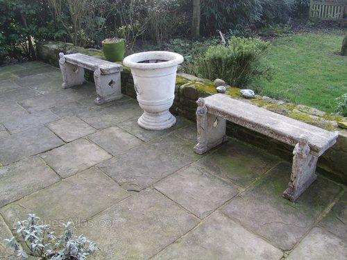 reconstituted stone bench (concrete