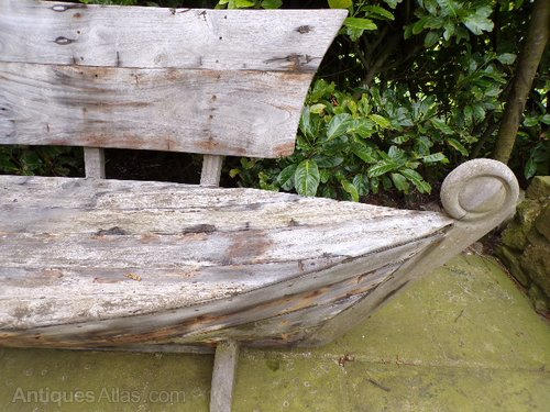 Antiques Atlas 1980 S Wooden Bench In The Form Of A Boat