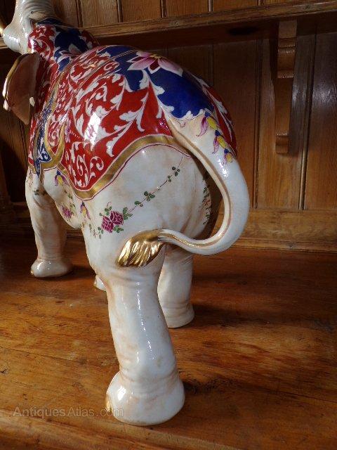 Circa 1925 Aelteste Volkstedter Porcelain Elephant