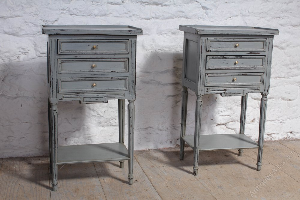 Brand new Very Nice Pair Of French Painted Bedside Cabinets - Antiques Atlas SD17