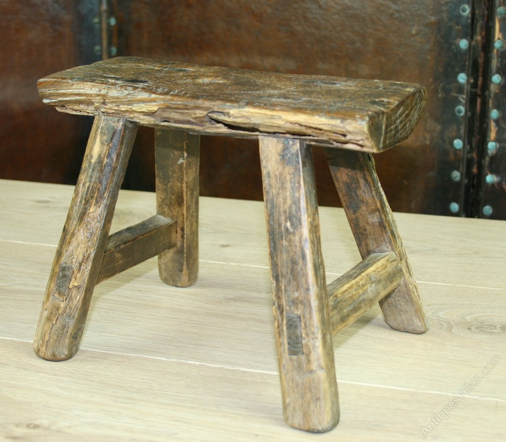 Milking Bench Part - 15: 18th Century Childs Elm Milking Stool ...