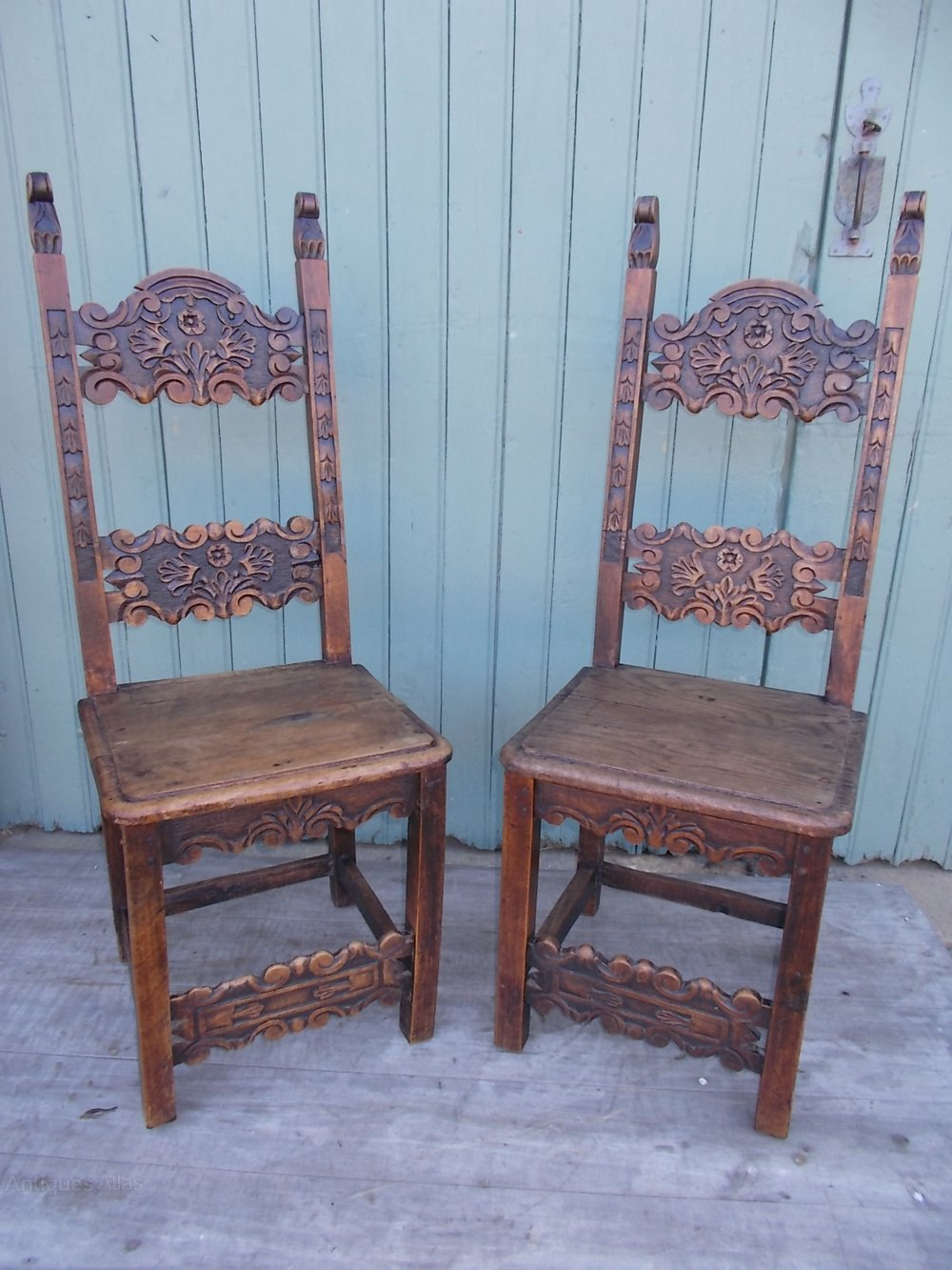 Pair Of Gothic Style Chairs Antique Hall Chairs ...