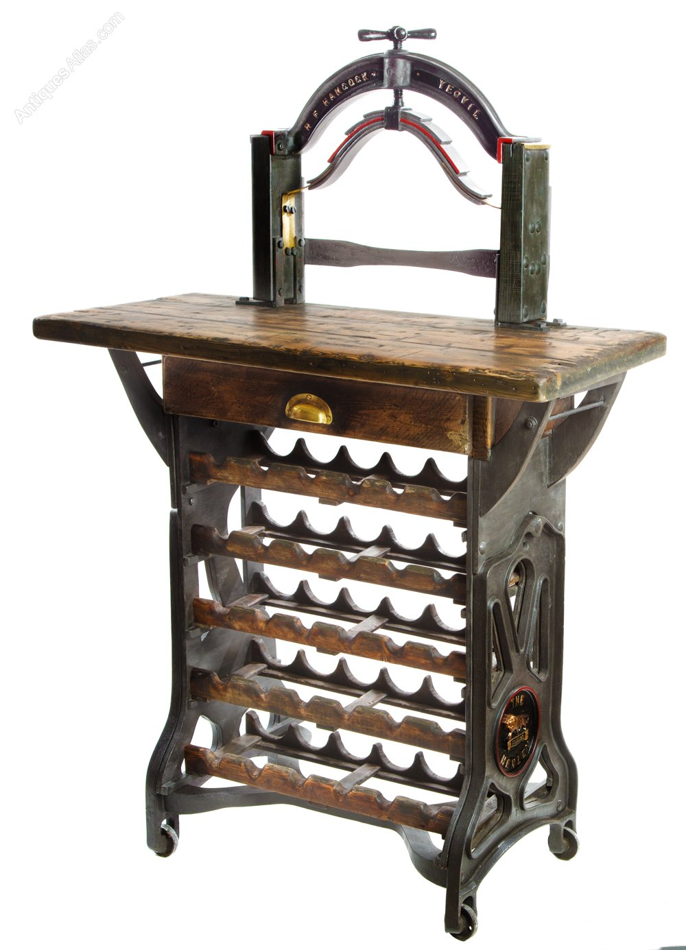 """""""The Henley"""" Victorian Mangle Wine Rack & Table - Antiques ..."""