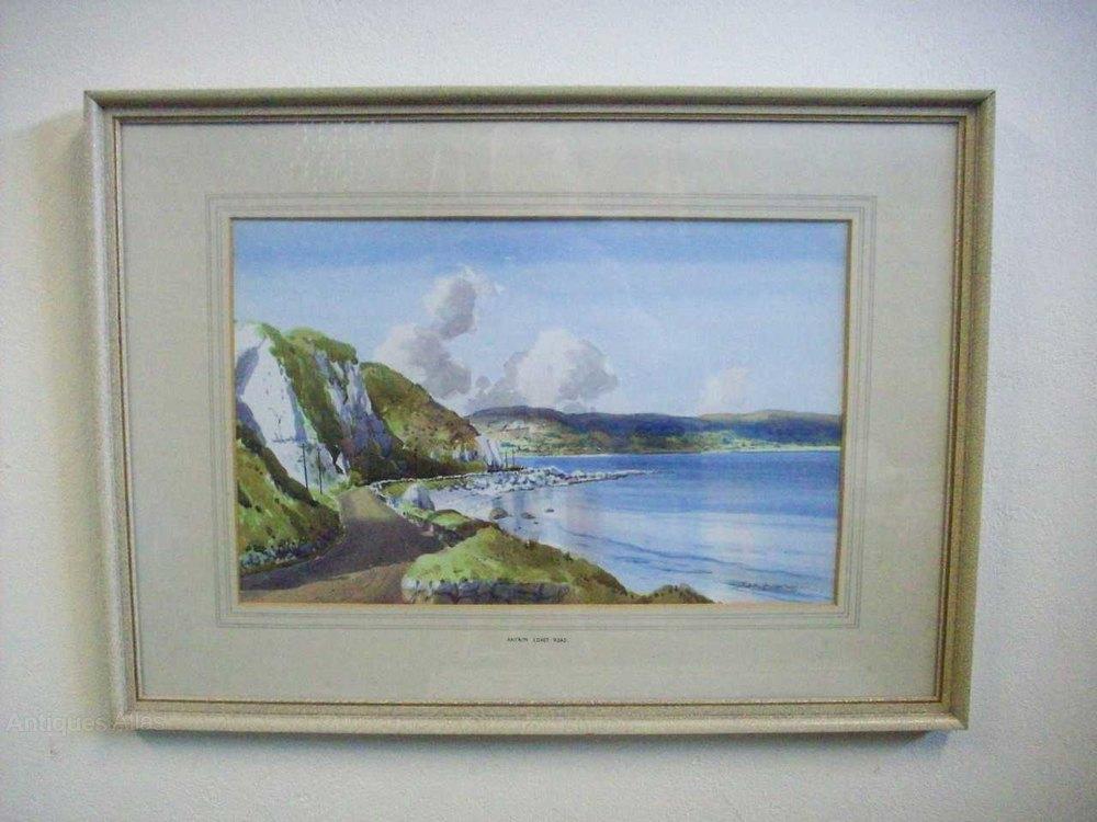 Antiques Atlas - Irish Watercolour Painting By Artist Sam McLarnon