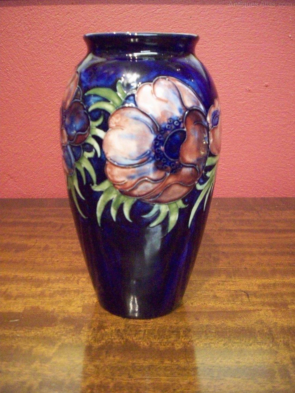 Antiques Atlas Moorcroft Anenome Pattern Vase