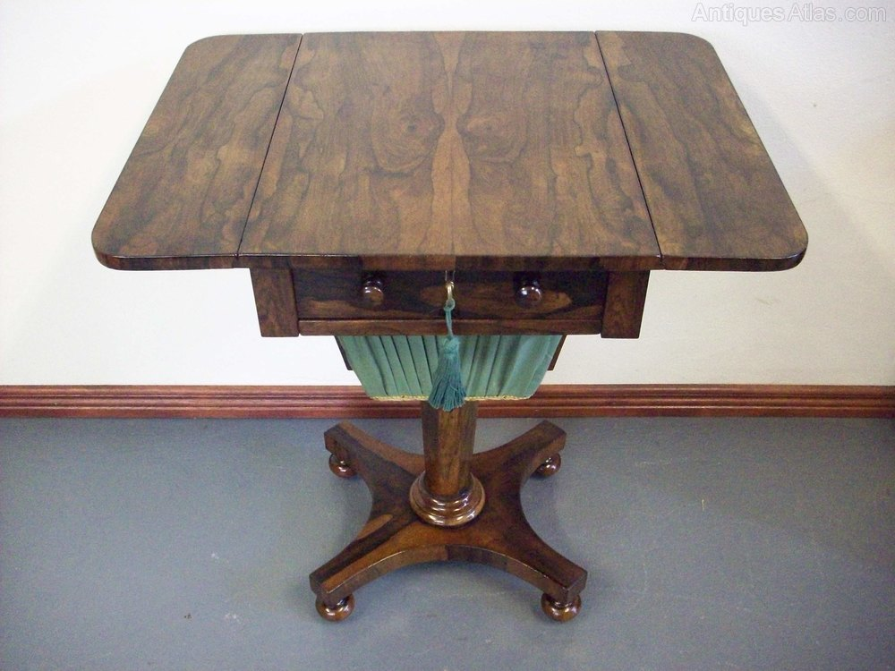Regency Rosewood Sewing Table Antiques Atlas