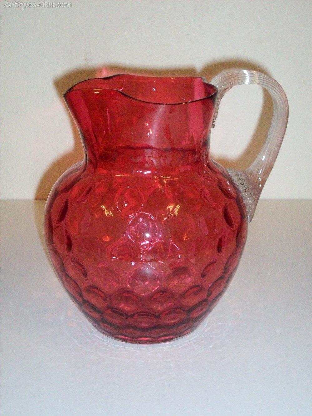 Antiques atlas victorian ruby glass jug victorian ruby glass jug cranberry glass reviewsmspy