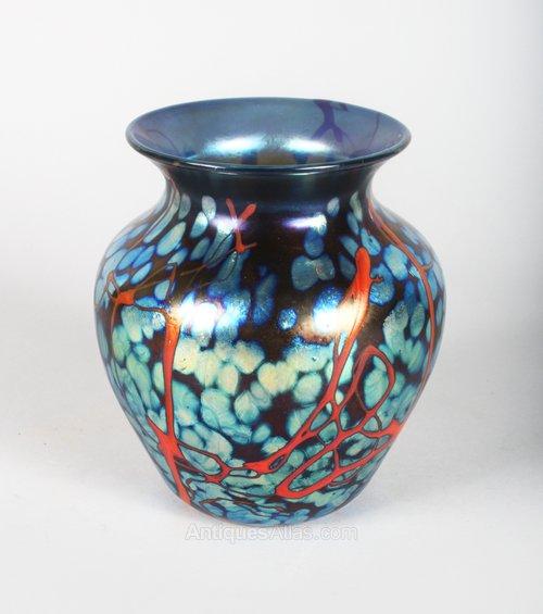 Antiques Atlas Loetz Vase Iridescent Blue