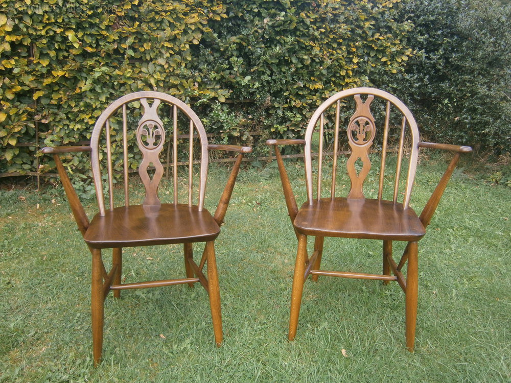 Antiques Atlas - Pair Of Ercol Arm Chairs