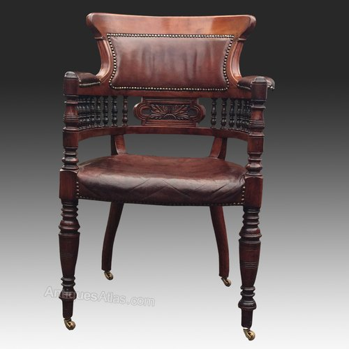 Groovy Antique Aesthetic Movement Walnut Desk Chair Antiques Atlas Pabps2019 Chair Design Images Pabps2019Com