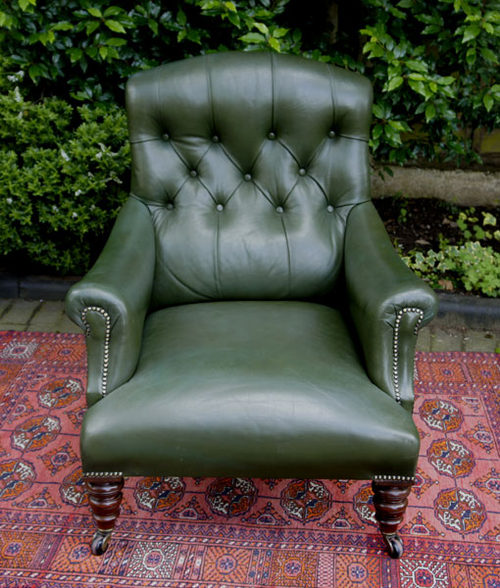 Antique Leather Club Chair Or Easy Armchair ...