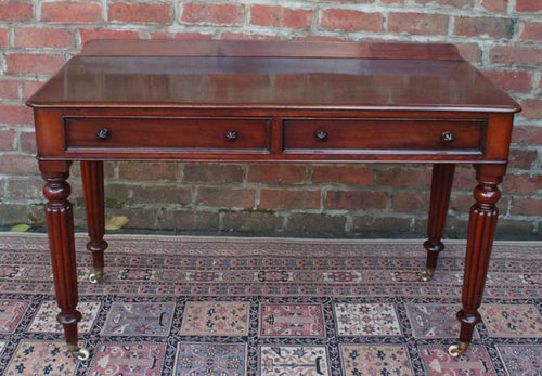 Antique Mahogany Side Table or Writing Table ... - Antique Mahogany Side Table Or Writing Table - Antiques Atlas