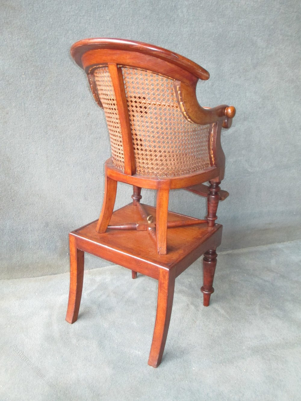 A victorian mahogany bergere childs high chair antiques for Table bergere