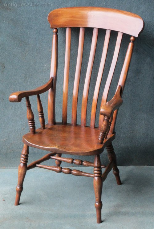 - A Beech And Elm High Back Windsor Chair - Antiques Atlas