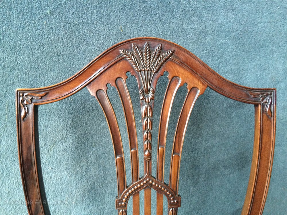 Shield Back Chair Sets Of 6 Antique Dining Chairs
