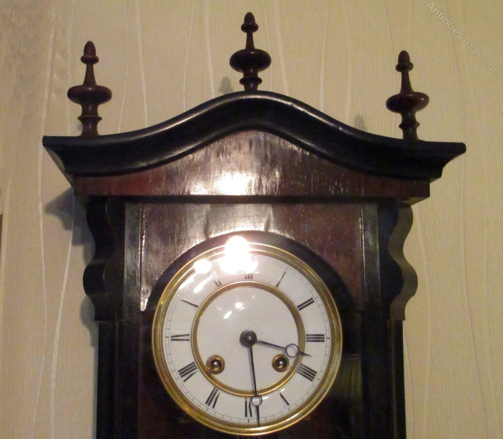 Antiques Atlas Victorian Spring Driven Vienna Regulator Clock