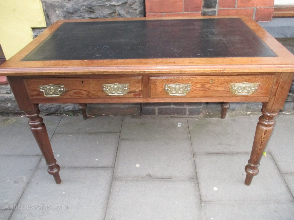 Victorian Pine Writing Table