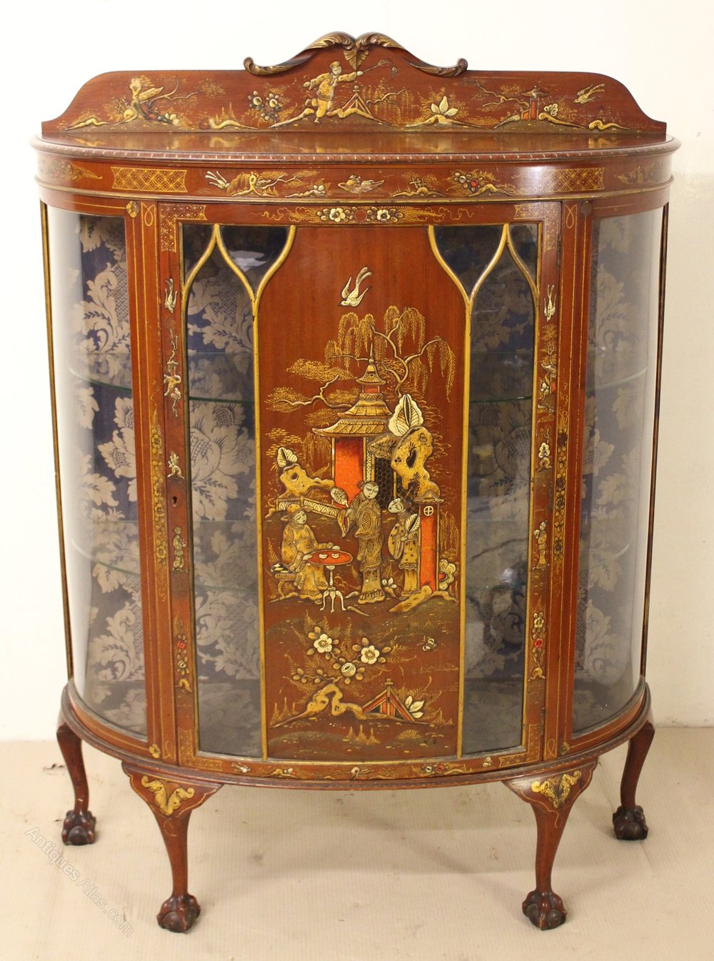 Chinoiserie Half Moon Display Cabinet Antique ...