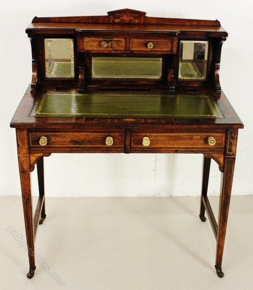 Desks & Home Office Furniture Victorian Rosewood Marquetry Bonheur De Jour/writing Desk