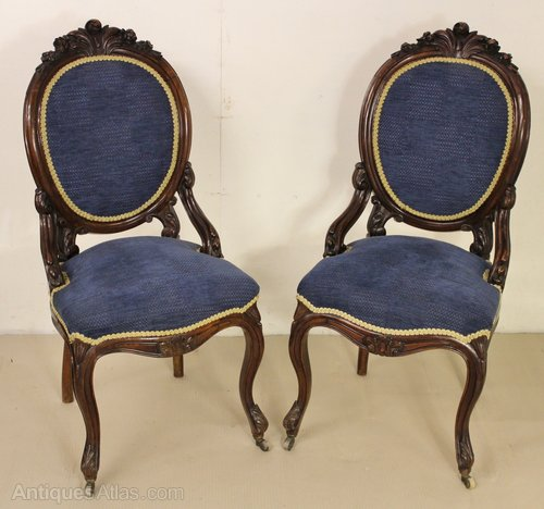 - Pair Of Victorian Rosewood Chairs - Antiques Atlas