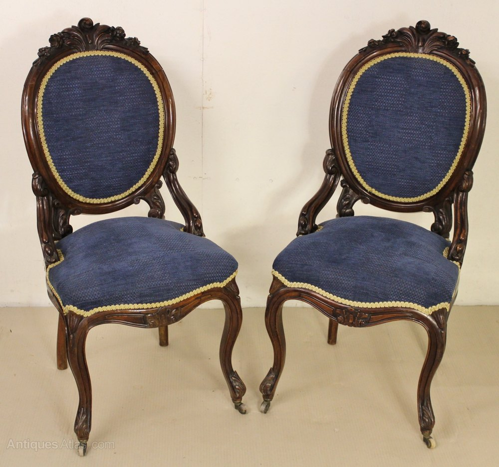 Pair of Victorian Rosewood Chairs Antique ... - Pair Of Victorian Rosewood Chairs - Antiques Atlas