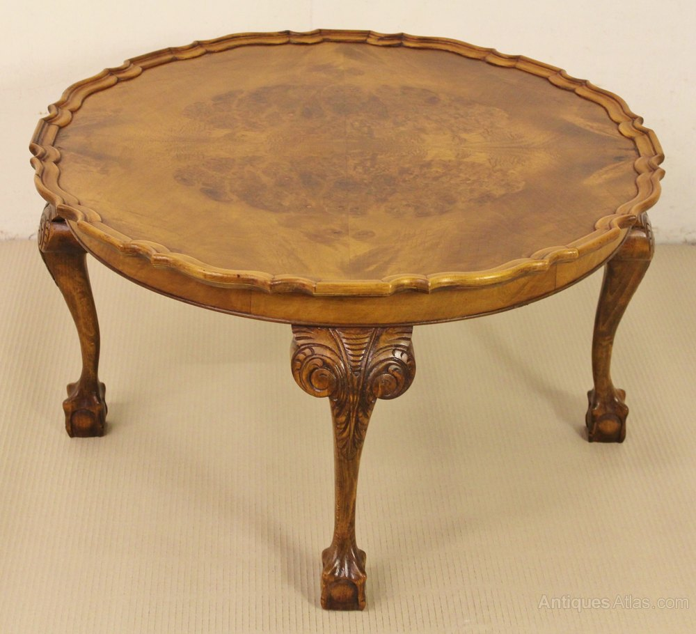 Round Burr Walnut Coffee Table Antiques Atlas
