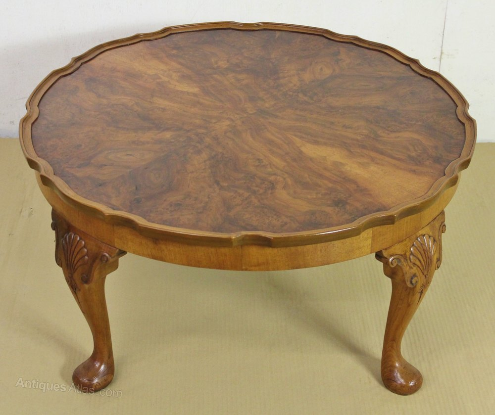 Round Queen Anne Style Burr Walnut Coffee Table Antiques Atlas