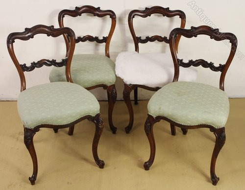 - Set Of 4 Victorian Rosewood Chairs - Antiques Atlas