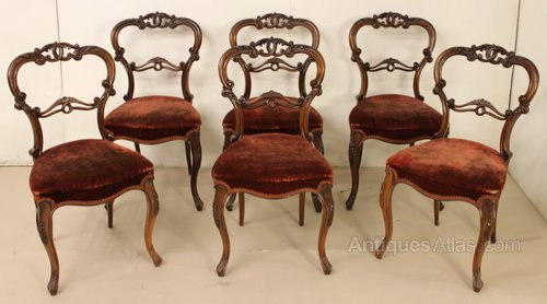- Set Of 6 Victorian Rosewood Chairs - Antiques Atlas
