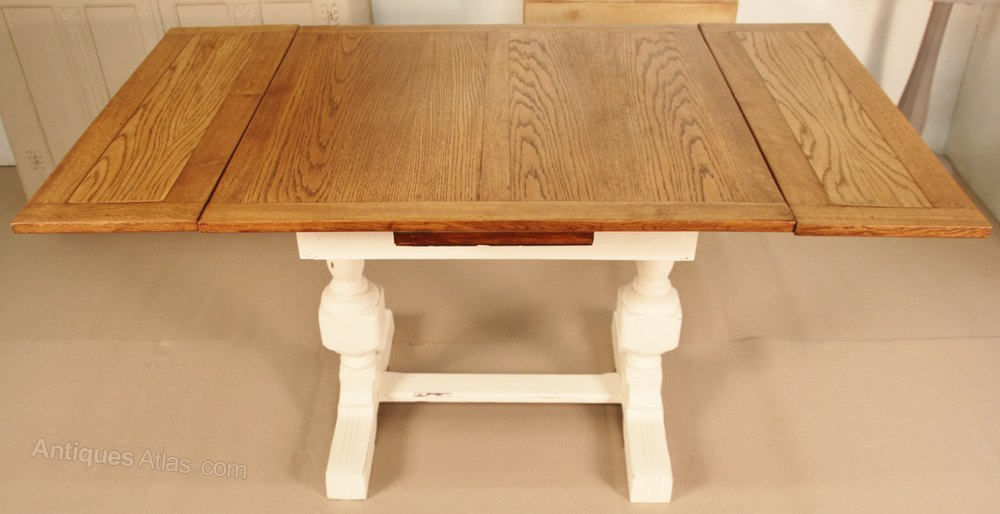 Shabby Chic Painted Draw Leaf Dining Table