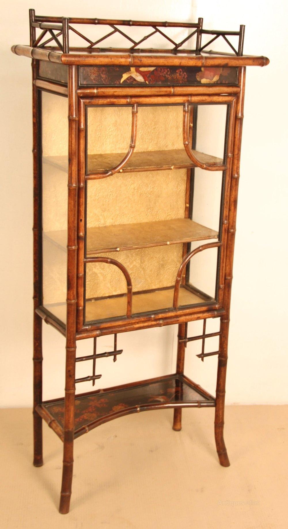 Victorian Bamboo Display Cabinet Antiques Atlas Rh Com Furniture Uk Antique Rattan