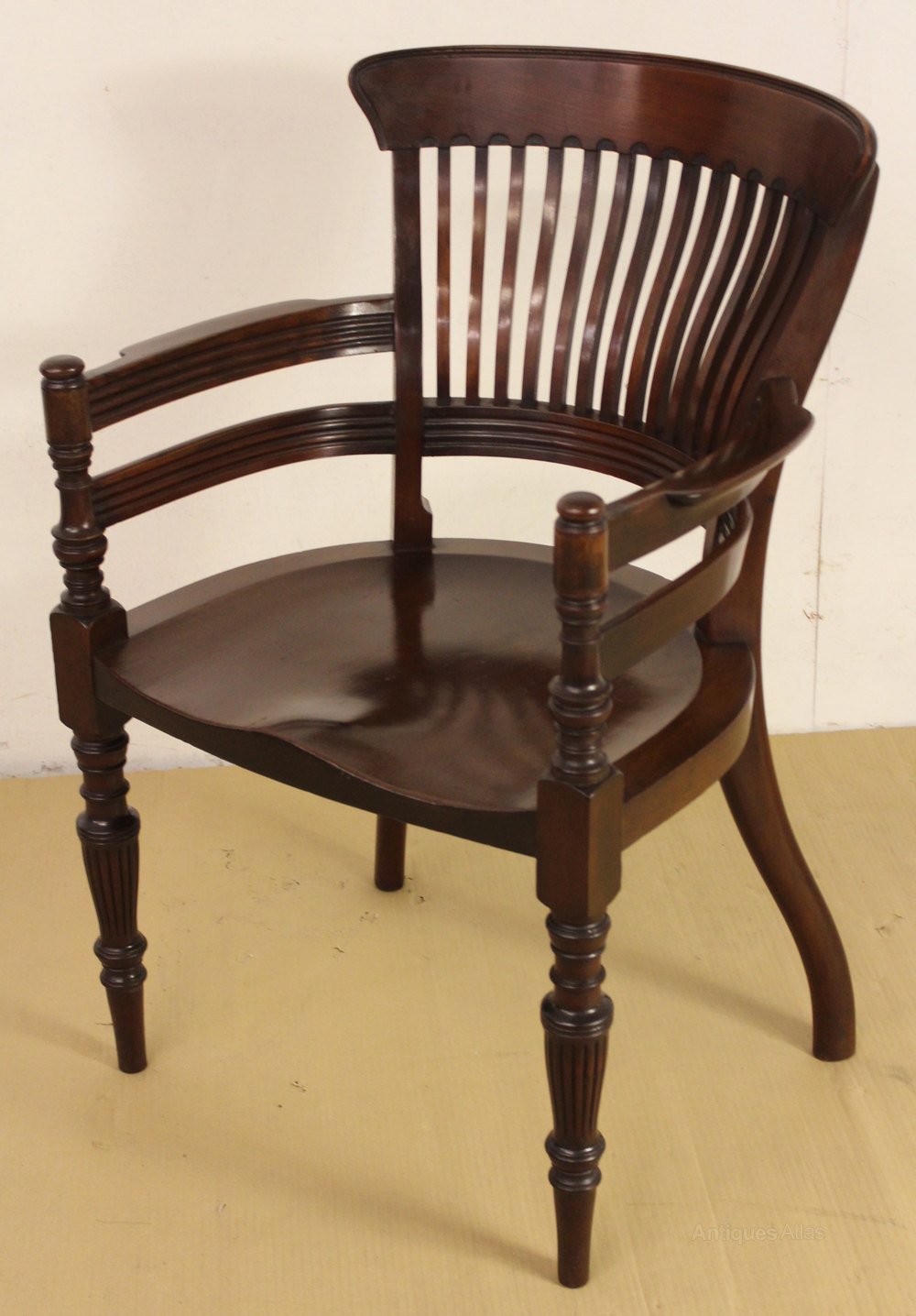 Victorian mahogany desk chair antiques atlas for Antique office chair